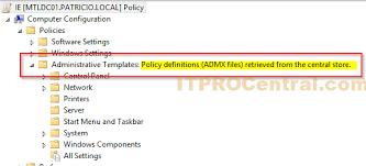 atualizando administrative templates gpo para o windows 10