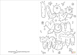 i love you mom card coloring page free printable coloring pages