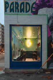 small and vibrant restaurant interior in montreal the architects