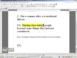 lesson 2a rule 2 put a comma after transitional phrases youtube