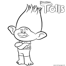 coloring pages info branch trolls printable coloring pages book