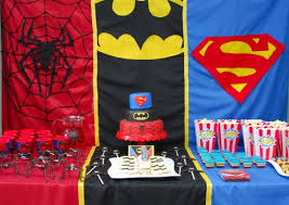 Superman Birthday Party Decoration Ideas Super Hero Theme For A Kid U0027s Party