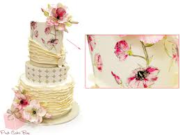 design a cake visual glossary of cake terms pink cake box