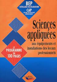sciences appliqu s cap cuisine sciences appliquées aux équipements et alain chrétien brigitte