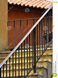 iron staircase to the upstairs of the house stock photo image