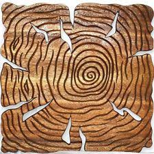 set of 3 wood 18 inch tree wall panels thailand ebay