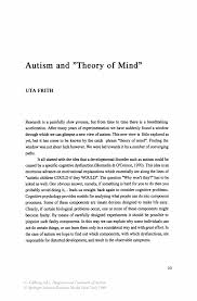 autism and u201ctheory of mind u201d springer
