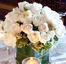 White Roses Centerpieces by 128 Best White Wedding Flowers Images On Pinterest White Wedding