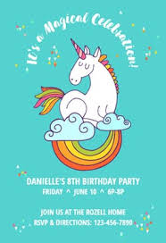 birthday invitation template unicorn magic free birthday invitation template greetings island