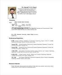 Sample Resume For Experienced Assistant Professor In Engineering College by Electronics Resume Template 8 Free Word Pdf Document Downloads