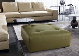 contemporary ottoman leather indoor by rodolfo dordoni
