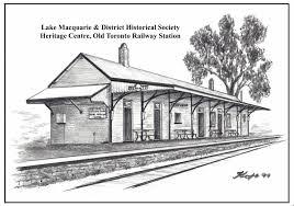 drawn railroad train station pencil and in color drawn railroad