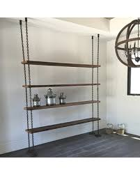 Reclaimed Wood And Metal Bookcase Don U0027t Miss This Bargain Hanging Chain Shelving Old Reclaimed Wood