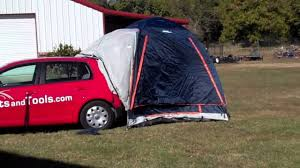 nissan rogue hatch tent sportz dome tent with my car youtube