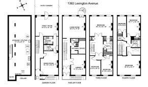 brownstone floor plans back historic brownstone floor plans home building plans 84458