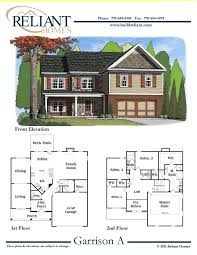 sle floor plans 2 story home reliant homes the garrison a plan floor plans homes homes