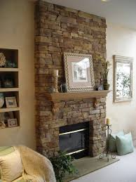 home accecories stone fireplace wall ideas house beautifull