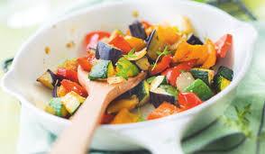cuisiner l aubergine à la poele poêlée de légumes grillés courgette aubergine poivrons oignon