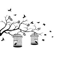 flying from tree silhouette clipart free