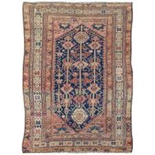 antique persian malayer camel hair rug with modern design for sale