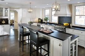 granite countertop white shiny kitchen cabinets backsplash