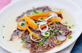 cuisiner une joue de boeuf joue de bœuf façon carpaccio recettes de cuisine la viande fr
