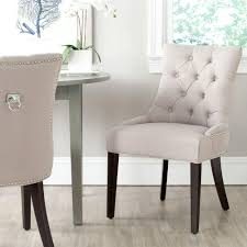linen chair safavieh harlow taupe linen side chair set of 2 mcr4716a set2
