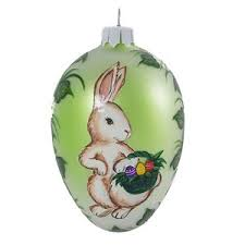 glass easter egg ornaments christmas ornaments world bunny with gifts blown glass