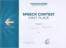 toastmasters table topics tips speaker claire newton