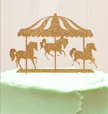 Carousel Horse Centerpiece by Aliexpress Com Buy Carousel Horses Glitter Cake Topper Or