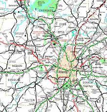 Ga Counties Map Georgiainfo