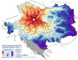 L Train Map Isochrone Map Of The Austro Hungarian Empire Railway Network 1912