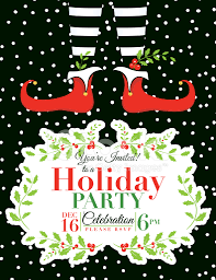 wonderful free christmas party invitation templates part 5
