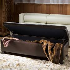 Leather Storage Ottoman Bench Leather Ottomans U0026 Storage Ottomans Shop The Best Deals For Dec
