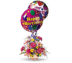 balloon delivery md festive blooming balloons ot43 3 fresh floral arrangement in