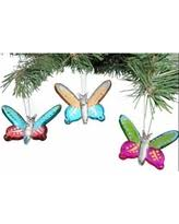 spooktacular savings on glass butterfly ornaments set of 3