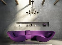 Purple Living Room Chair by More Comfortable At Home With A Luxurious Comfortable Purple Sofa