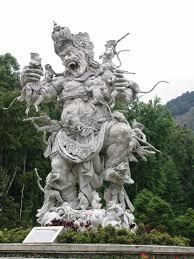 statue of kumbhakarna botanical gardens bali indonesia photo