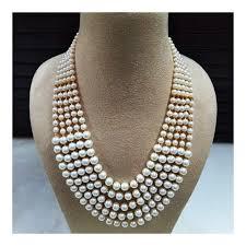 white pearls necklace designs images Designer white pearl necklace set navodyami jpg