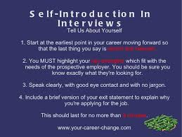 What To Say At Self Introduction In Interviews