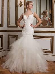 justin wedding dresses justin 8827 v neck tulle mermaid bridal dress