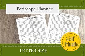periscope planner printable social media planner video