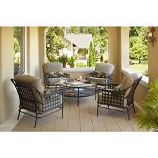 Hampton Bay Patio Table Amazon Com Lynnfield 5 Piece Patio Chat Set Patio Lawn U0026 Garden