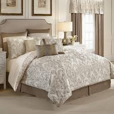 glossy white and tan macys paisley bedding sets with revesible