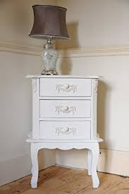 Bedside Table Ls Home Design Fascinating Shabby Chic Bedside Table 25124 3 Drawer