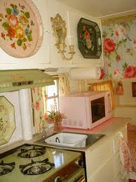 thrifty blogs on home decor romantic gypsy caravan pink microwave vintage trailers and rv