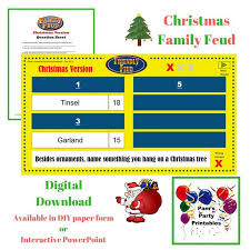 christmas themed family feud available on etsy at pam u0027s party