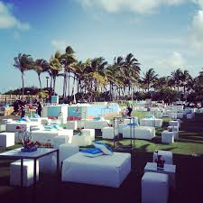 event furniture rental miami outdoor lounge set up at the fontainebleau hotel ronen rental