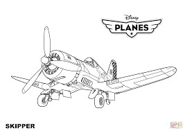 disney planes skipper coloring page free printable coloring pages