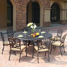 darlee florence 9 piece cast aluminum patio dining set with lazy